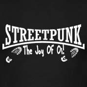 streetpunk the joy of oi mit boots T-Shirts.jpg